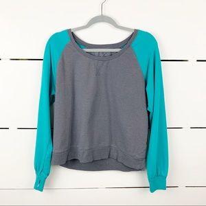 Z BY ZELLA Raglan Sweatshirt Colorblock Women's XL